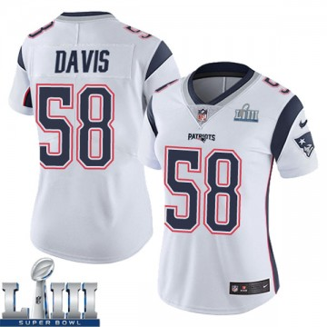 Women's Nike New England Patriots Keionta Davis White Super Bowl LIII Vapor Untouchable Jersey - Limited