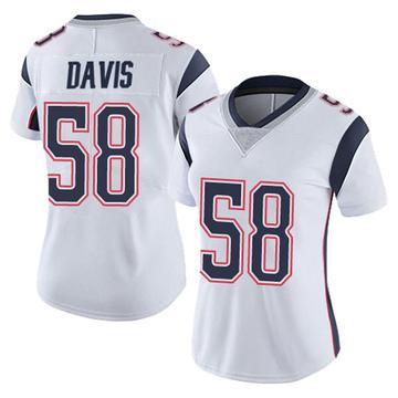 Women's Nike New England Patriots Keionta Davis White Vapor Untouchable Jersey - Limited