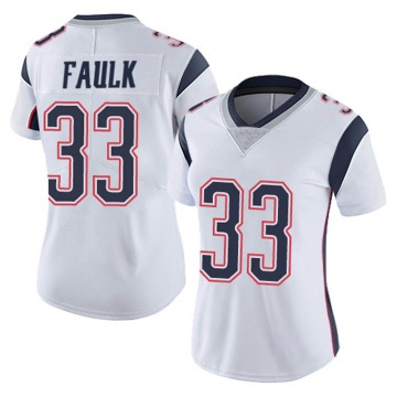 Women's Nike New England Patriots Kevin Faulk White Vapor Untouchable Jersey - Limited