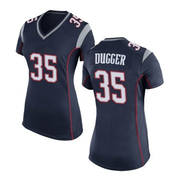 Women's Nike New England Patriots Kyle Dugger Navy Blue Team Color Jersey - Game