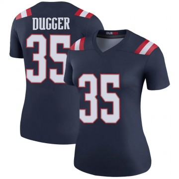 Women's Nike New England Patriots Kyle Dugger Navy Color Rush Jersey - Legend