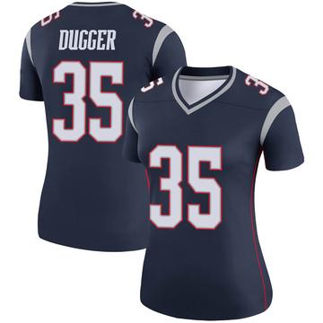 Women's Nike New England Patriots Kyle Dugger Navy Jersey - Legend
