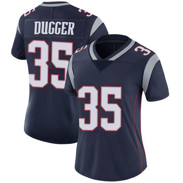Women's Nike New England Patriots Kyle Dugger Navy Team Color Vapor Untouchable Jersey - Limited