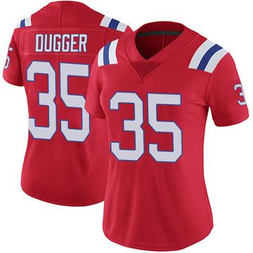 Women's Nike New England Patriots Kyle Dugger Red Vapor Untouchable Alternate Jersey - Limited