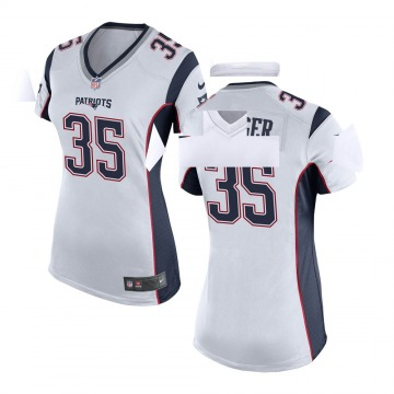 Women's Nike New England Patriots Kyle Dugger White Jersey - Game