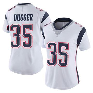 Women's Nike New England Patriots Kyle Dugger White Vapor Untouchable Jersey - Limited