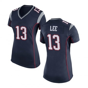 Women's Nike New England Patriots Marqise Lee Navy Blue Team Color Jersey - Game