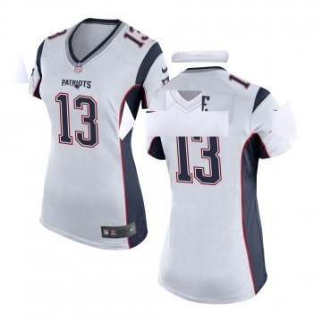 Women's Nike New England Patriots Marqise Lee White Jersey - Game