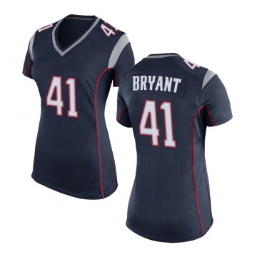 Women's Nike New England Patriots Myles Bryant Navy Blue Team Color Jersey - Game