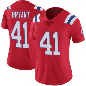 Women's Nike New England Patriots Myles Bryant Red Vapor Untouchable Alternate Jersey - Limited