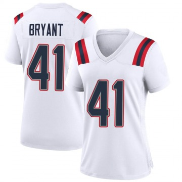Women's Nike New England Patriots Myles Bryant White Jersey - Game