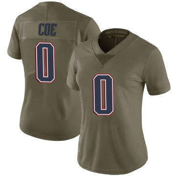 Women's Nike New England Patriots Nick Coe Green 2017 Salute to Service Jersey - Limited