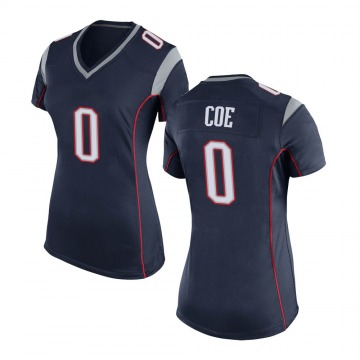 Women's Nike New England Patriots Nick Coe Navy Blue Team Color Jersey - Game