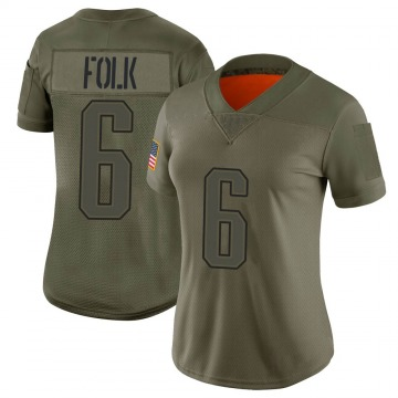 Women's Nike New England Patriots Nick Folk Camo 2019 Salute to Service Jersey - Limited