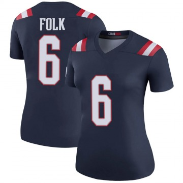 Women's Nike New England Patriots Nick Folk Navy Color Rush Jersey - Legend