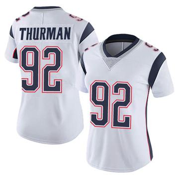Women's Nike New England Patriots Nick Thurman White Vapor Untouchable Jersey - Limited