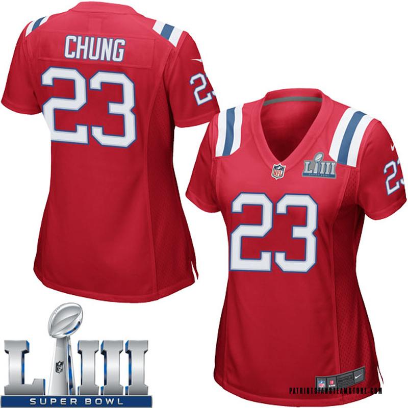 buy popular 8b30d ffd82 Women's Nike New England Patriots Patrick Chung Red Alternate Super Bowl  LIII Jersey - Game