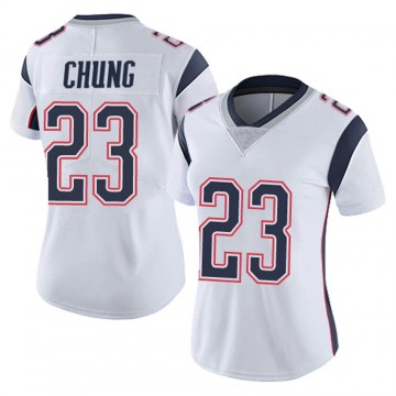 Women's Nike New England Patriots Patrick Chung White Vapor Untouchable Jersey - Limited