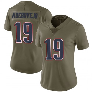 Women's Nike New England Patriots Quincy Adeboyejo Green 2017 Salute to Service Jersey - Limited