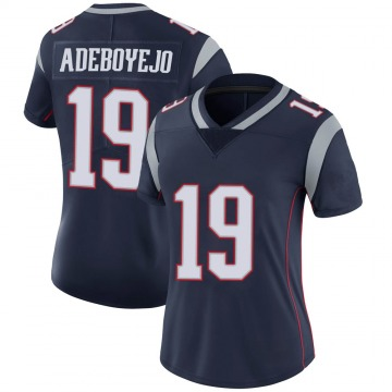 Women's Nike New England Patriots Quincy Adeboyejo Navy 100th Vapor Jersey - Limited
