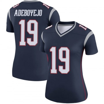 Women's Nike New England Patriots Quincy Adeboyejo Navy Jersey - Legend