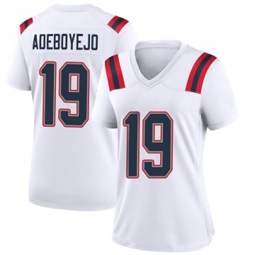 Women's Nike New England Patriots Quincy Adeboyejo White Jersey - Game