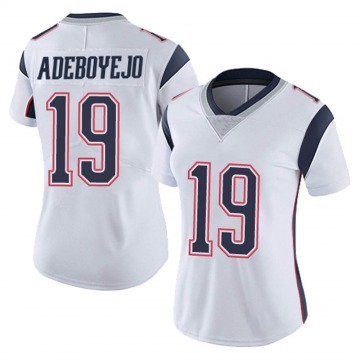 Women's Nike New England Patriots Quincy Adeboyejo White Vapor Untouchable Jersey - Limited
