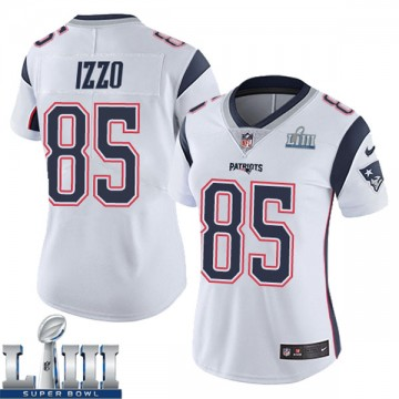 Women's Nike New England Patriots Ryan Izzo White Super Bowl LIII Vapor Untouchable Jersey - Limited