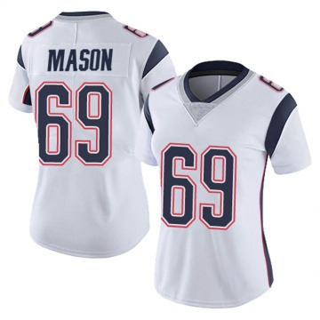 Women's Nike New England Patriots Shaq Mason White Vapor Untouchable Jersey - Limited