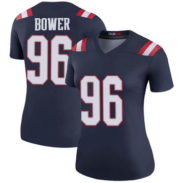 Women's Nike New England Patriots Tashawn Bower Navy Color Rush Jersey - Legend
