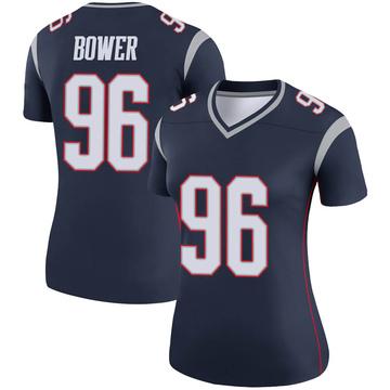 Women's Nike New England Patriots Tashawn Bower Navy Jersey - Legend