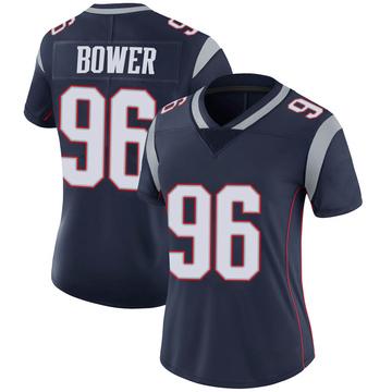 Women's Nike New England Patriots Tashawn Bower Navy Team Color Vapor Untouchable Jersey - Limited