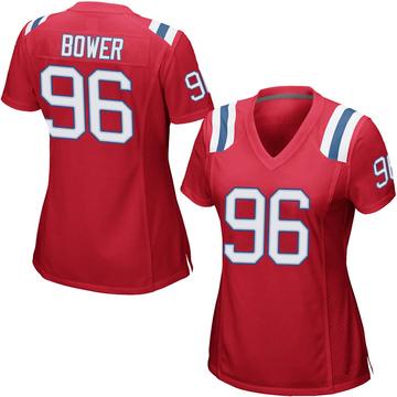 Women's Nike New England Patriots Tashawn Bower Red Alternate Jersey - Game