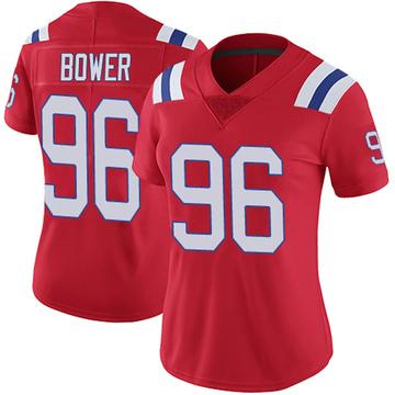 Women's Nike New England Patriots Tashawn Bower Red Vapor Untouchable Alternate Jersey - Limited