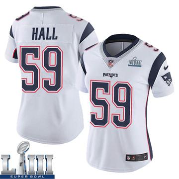 Women's Nike New England Patriots Terez Hall White Super Bowl LIII Vapor Untouchable Jersey - Limited