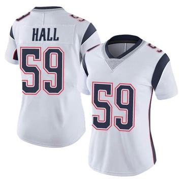 Women's Nike New England Patriots Terez Hall White Vapor Untouchable Jersey - Limited