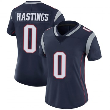 Women's Nike New England Patriots Will Hastings Navy 100th Vapor Jersey - Limited