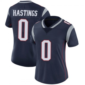 Women's Nike New England Patriots Will Hastings Navy Team Color Vapor Untouchable Jersey - Limited