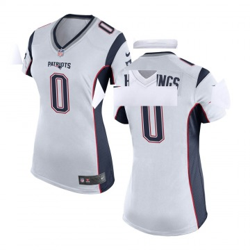 Women's Nike New England Patriots Will Hastings White Jersey - Game