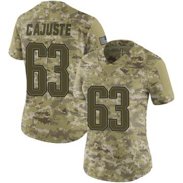 Women's Nike New England Patriots Yodny Cajuste Camo 2018 Salute to Service Jersey - Limited