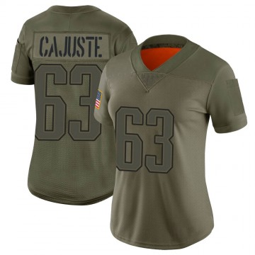 Women's Nike New England Patriots Yodny Cajuste Camo 2019 Salute to Service Jersey - Limited