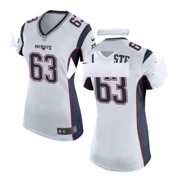 Women's Nike New England Patriots Yodny Cajuste White Jersey - Game