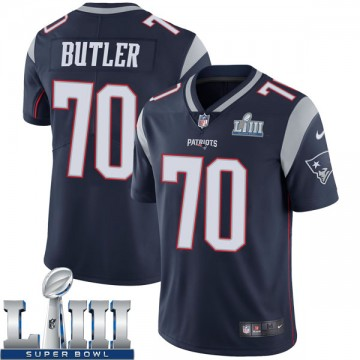 Youth Nike New England Patriots Adam Butler Navy Team Color Super Bowl LIII Vapor Untouchable Jersey - Limited