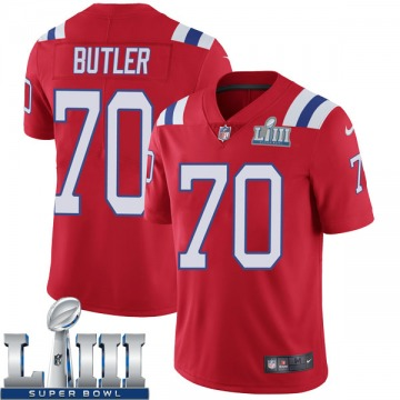 Youth Nike New England Patriots Adam Butler Red Super Bowl LIII Vapor Untouchable Alternate Jersey - Limited