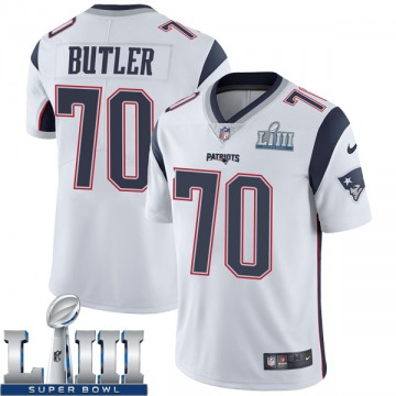 Youth Nike New England Patriots Adam Butler White Super Bowl LIII Vapor Untouchable Jersey - Limited