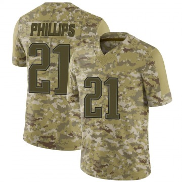 Youth Nike New England Patriots Adrian Phillips Camo 2018 Salute to Service Jersey - Limited