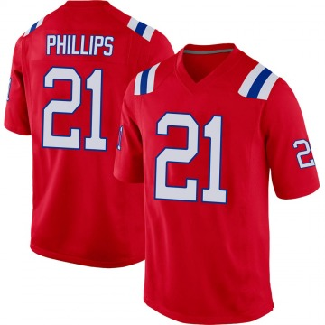 Youth Nike New England Patriots Adrian Phillips Red Alternate Jersey - Game