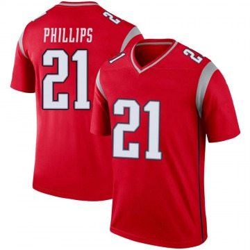 Youth Nike New England Patriots Adrian Phillips Red Inverted Jersey - Legend