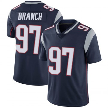 Youth Nike New England Patriots Alan Branch Navy 100th Vapor Jersey - Limited