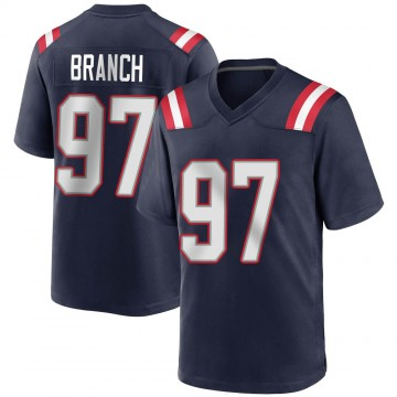 Youth Nike New England Patriots Alan Branch Navy Blue Team Color Jersey - Game